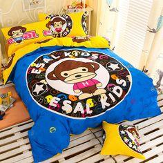 Home Textile totoro cartoon kids bedding 3/4 piece 100% cotton children's bedding cotton sheets bedclothes pillowcase set //Price: $36.62 & FREE Shipping //     #bedding