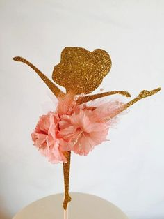 "Ballerina Party Cake Topper - 6"" Ballerina - Ballerina Birthday Party - Ballerina Baby Shower - Ballerina Favors - Ballerina Decorations"
