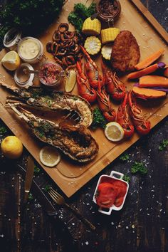 All in One ... where Lobsters, Shrimps, Crayfish, Calamari & Fish meet up. This fascinating food is from little cozy seafood restaurant called LOVEster Shack in Jakarta, Indonesia