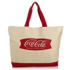 HSN Exclusive Coca-Cola Sign of Good Taste Tote Bag