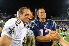 Drew Brees - New Orleans Saints  amp  Tom Brady - New England Patriots Nfl  History cfb89ae9babf1