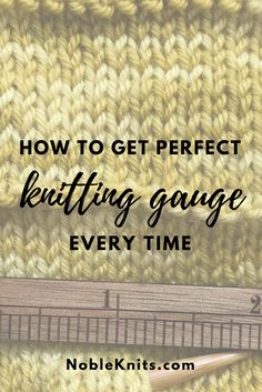 How to get perfect knitting gauge   gauge knitting   what is gauge in knitting   stitch gauge knitting