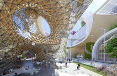 Galeria - Vincent Callebaut propõe um shopping na China inspirado na geometria de uma flor - 4