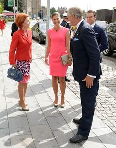 Crown Princess Victoria and Prince Daniel attend the International Swede of the Year awards Aug. Princess Sofia Of Sweden, Princess Victoria Of Sweden, Princess Estelle, Princess Madeleine, Crown Princess Victoria, Denmark Fashion, Prince Daniel, Swedish Royals, Royal Engagement