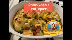 Delicious combination of flaky biscuits, cheddar cheese and bacon. Ingredients: oz of bacon can of biscuits -. Bacon Videos, Flaky Biscuits, Best Bacon, Bacon Breakfast, Pull Apart, Bacon Recipes, Cheddar Cheese, Appetizers, Snacks