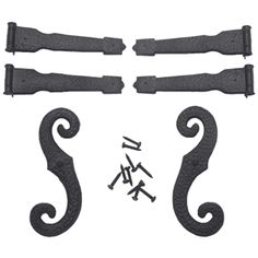 Mid America Shutters Decorative Hinge & S-Hook Kit