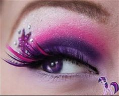 I don't normally go for crazy makeup but this is actually pretty awesome for a costume or something