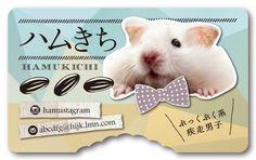 ペット名刺 型抜き名刺 ハムスターデザイン 横型001 オーダーメイド ペットグッズ (1個30枚入)【楽天市場】