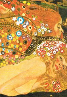 gustav Klimt - Waterserpents - Kunst op Postkaart