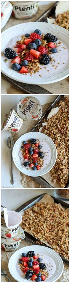 This crunchy Almond Coconut Butter Granola is packed with almonds and coconut. It's gluten-free, refined sugar-free, and vegan!
