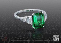 Green tsavorite ring by Leon Mege