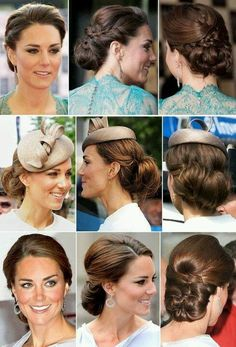She is always so classy. Formal Hairstyles, Wedding Hairstyles, Cool Hairstyles, Queen Kate, Princess Kate, Wedding Hair And Makeup, Hair Makeup, Burnt Hair, Kate Middleton Hair