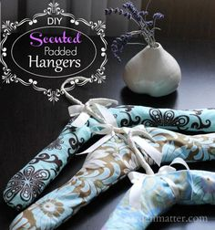 DIY Scented Padded Hangers--maybe my girls & I can make these for gifts for the special ladies in our life (teachers, mentors, grandmothers, etc. Diy Craft Projects, Diy And Crafts, Sewing Projects, Projects To Try, Homemade Gifts, Diy Gifts, Fabric Crafts, Sewing Crafts, Padded Hangers