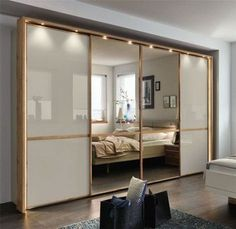 Ideas For Glass Sliding Door Design Modern Wardrobe Design Bedroom, Bedroom Bed Design, Bedroom Furniture Design, Bedroom Wardrobe, Furniture Layout, Cheap Furniture, Wardrobes For Bedrooms, Bed With Wardrobe, Wardrobes Uk