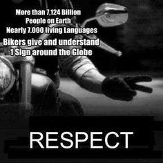Respect.   #bikers #motorcycles #riders