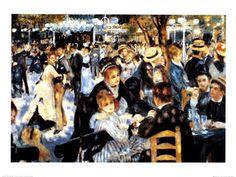 Le Moulin de la Galette - Renoir  My favourite piece of art since I was a child!