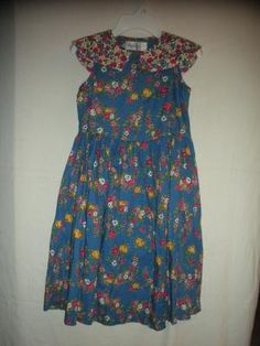 GIRL'S SMOCK DRESS SIZE 7 BY MOUSE FEATHERS