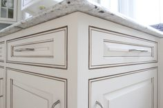 white cabinets with grey glaze - Google Search