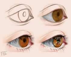 Tutorial: how to draw an eye in photoshop? Digital Art Anime, Digital Art Fantasy, Digital Art Girl, Fantasy Artwork, Digital Art Tutorial, Digital Painting Tutorials, Art Tutorials, Digital Paintings, Drawing Tutorials