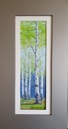 Painting Trees, Painting Art, Watercolor Paintings, Glass Painting Designs, Paint Designs, Acrylic Painting Tips, Birch Trees, Mini Paintings, Art Nature