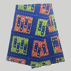 NAF-11 African Kente Print Block Wax Cotton Fabric, Veritable Real Wax Print…