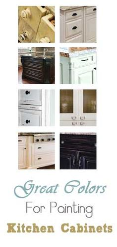When trying to decide on a color to paint your kitchen cabinets, keep in mind that your color choice is a little different than painting a piece of furniture. Here are some suggestions that might help you choose.