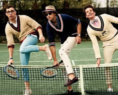 old school tennis outfits | Fun. Cover The New Issue Of GQ Magazine Ahead Of Grammy Awards 2013 ...