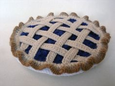 crochet pie. my great-grandmother Stella used to make crochet cakes that looked so real people would try to eat them.