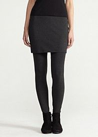 Eileen Fisher - skirted ankle legging - cozy