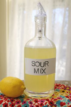 How to make your own sour mix at home. homemade is so much more tasty! click through for the recipe