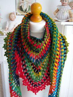 Shallow Waters Shawl By Anastacia Zittel - Free Crochet Pattern - (ravelry) ༺✿ƬⱤღ✿༻