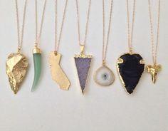 Gold Dipped Black Obsidian Arrowhead Necklace 24k by dAnn ...