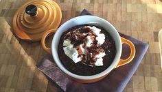 Chocolade gebakken havermout ontbijtje - Karlijnskitchen.com