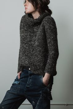 Shades Of Grey, Fashion Boutique, Hand Knitting, Turtle Neck, Pullover, Stylish, Sweaters, Collection, Atelier