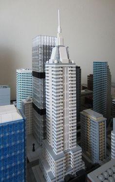 New Art Deco Skyscraper. Minecraft City, Minecraft Projects, Minecraft Buildings, Lego City, Legos, City Layout, Micro Lego, Minecraft Architecture, Arch Model