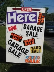 ADVERTISE YOUR GARAGE SALE EVENT