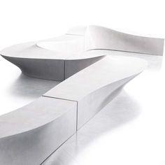 Modular Bench WAVE - @lab23srl