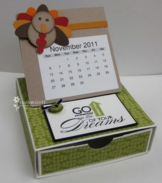 Fun calendar box idea