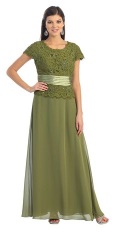 Long Mother of Bride dress in color Green, Gold, Blue & more -  style in Chiffon - Plus Size available. - $99 - Dress URL: http://www.jessicasfashion.com/an-elegant-mother-of-the-bride-gown-mq571.html #dress #dressshopping #wedding #fashion  #chiffondress #chiffondresses  #longdress #longdresses  #plussizedress