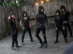 black veil brides......they look like they're goning to start a dance number