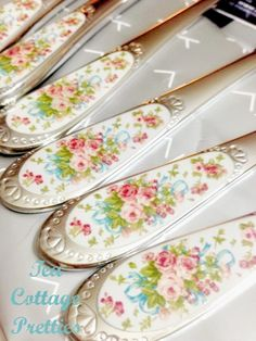Perfect Shabby Chic Flatware.... Tea Cottage Pretties: BEAUITFUL NEW FIND:
