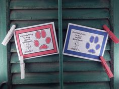 Cards From Pets  PAWS Edition by ItsyBitsyGreetings on Etsy