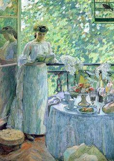 Ottmann,+Henry+(1877-1927)+Woman+on+a+Balcony2.jpg 497×700 pikseliä. #readingandart