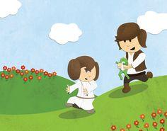 Star Wars Kids - Han Chasing Leia by Nixon Graphix