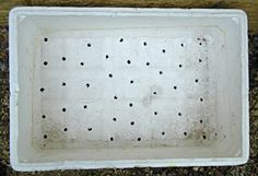 The Box Garden - Styrofoam Box with Holes Drilled