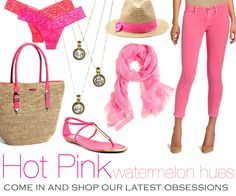 Our latest obsessions at Kristina Richards clothing boutique!! Pink !