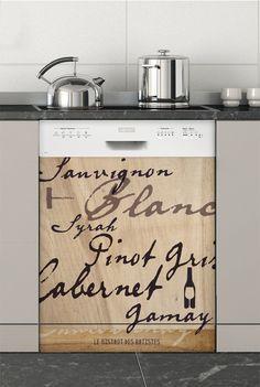 Cépages, Sticker Lave-vaisselle - Stickers électroménager #sticker #électroménager #deco #intérieur #papierpeint #surmesure #peinture #graphisme #wallpaper #lavevaisselle