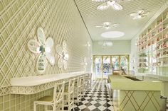 Ladurée Opens in Beverly Hills | Rue French Interior, French Decor, Beverly Hills Cafe, Morning Inspiration, Design Inspiration, Wicker Armchair, Christian Liaigre, Commercial Flooring, Top Interior Designers