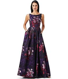 Adrianna Papell Floral Jacquard ALine Gown #Dillards - OMG I LOVE THIS DRESS