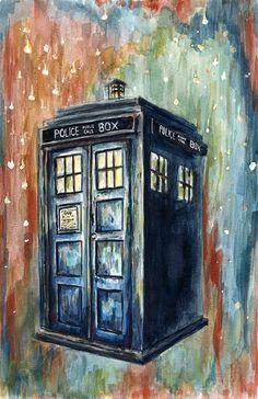 Die besten 25 tardis painting ideen auf pinterest doctor who doctor who tardis und doctor - Tardis selber bauen ...